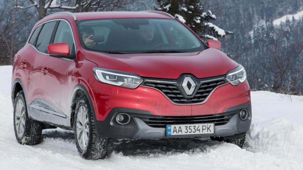 Переднеприводный Renault Kadjar на бездорожье